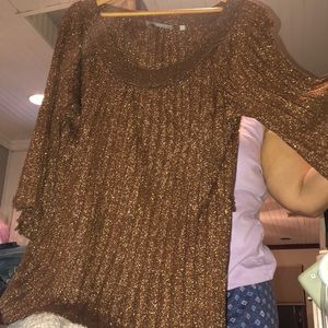Brown sparkly top
